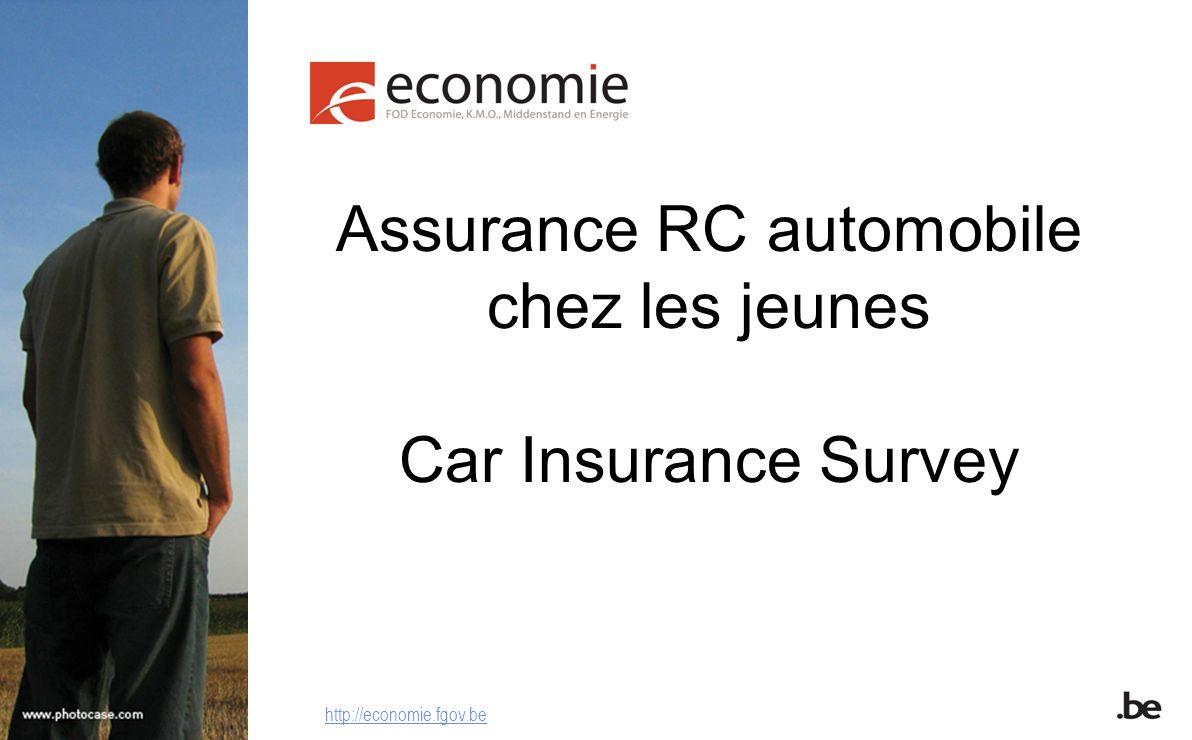 Assurance RC automobile chez les jeunes Car Insurance Survey http://economie.fgov.be