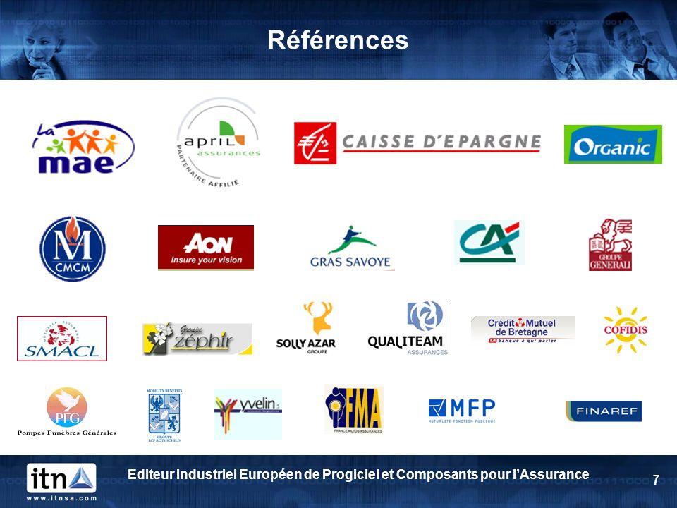 Editeur Industriel Européen de Progiciel et Composants pour lAssurance 7 Références