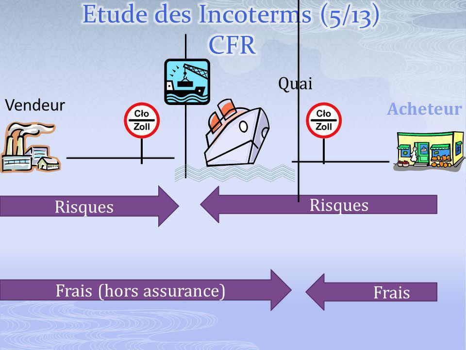 Vendeur Acheteur Frais (hors assurance) Risques Quai Risques Frais