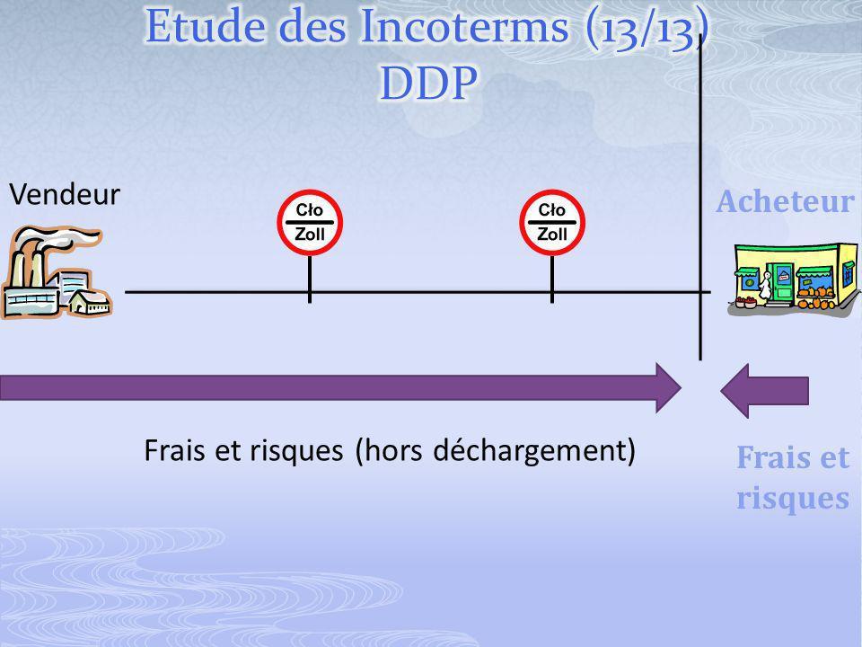 Vendeur Acheteur Frais et risques (hors déchargement) Frais et risques