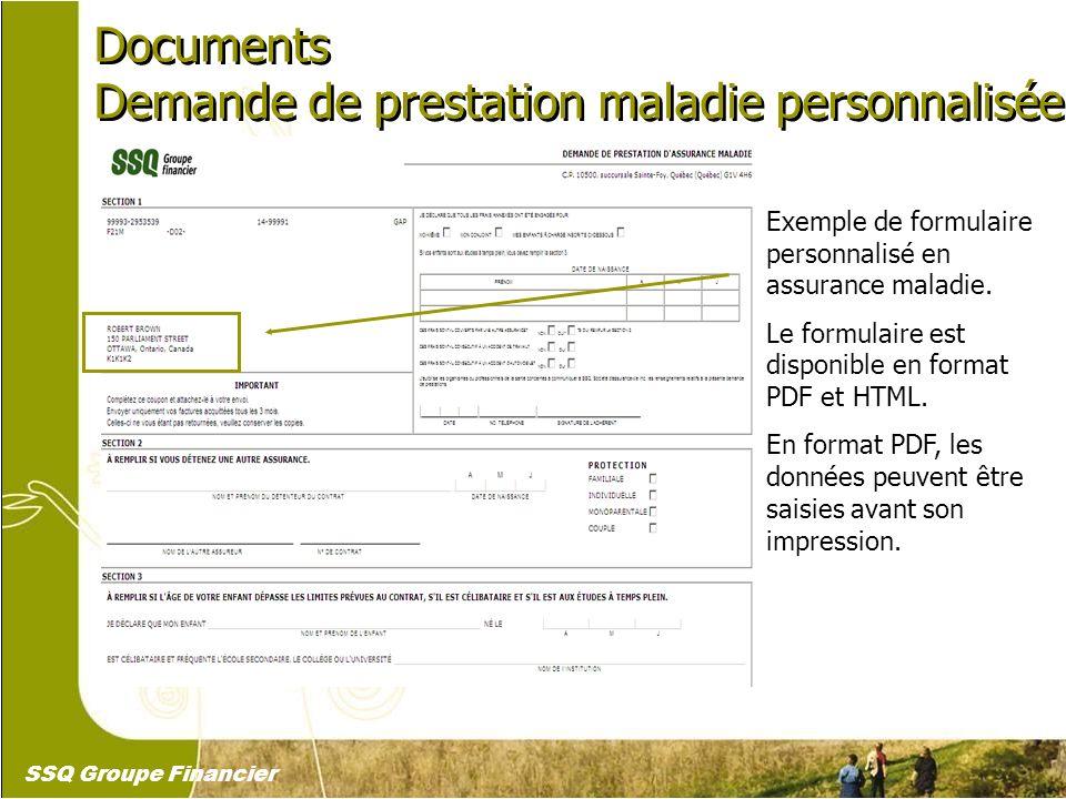 24 Documents Demande de prestation maladie personnalisée Documents Demande de prestation maladie personnalisée Exemple de formulaire personnalisé en a
