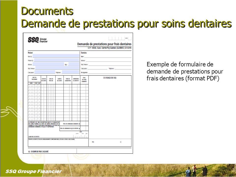 26 Documents Demande de prestations pour soins dentaires Documents Demande de prestations pour soins dentaires Exemple de formulaire de demande de pre