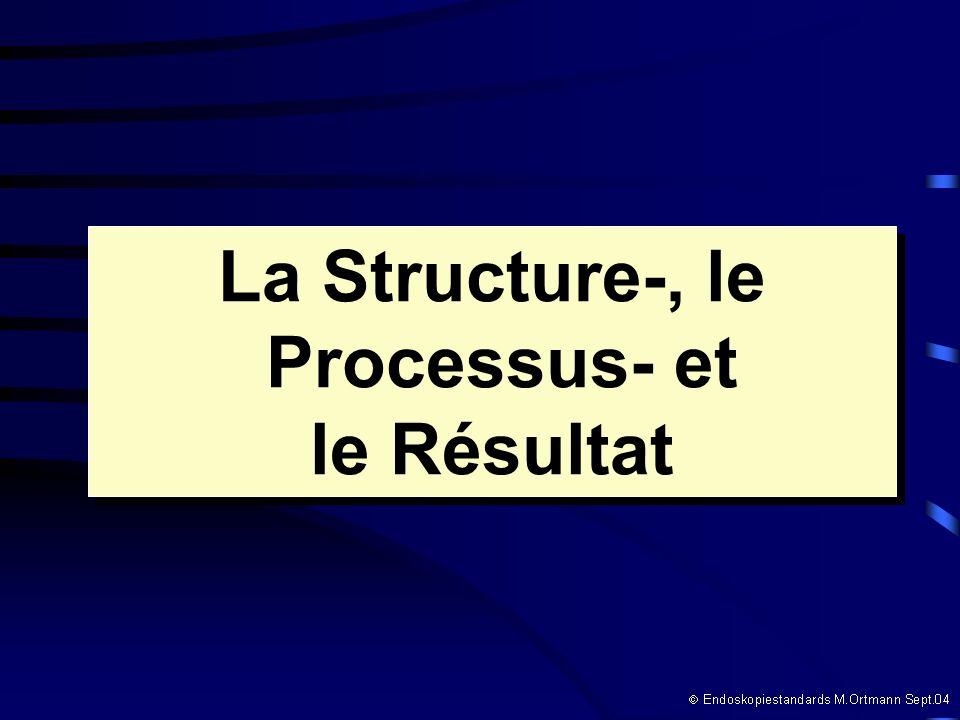 La Structure-, le Processus- et le Résultat La Structure-, le Processus- et le Résultat