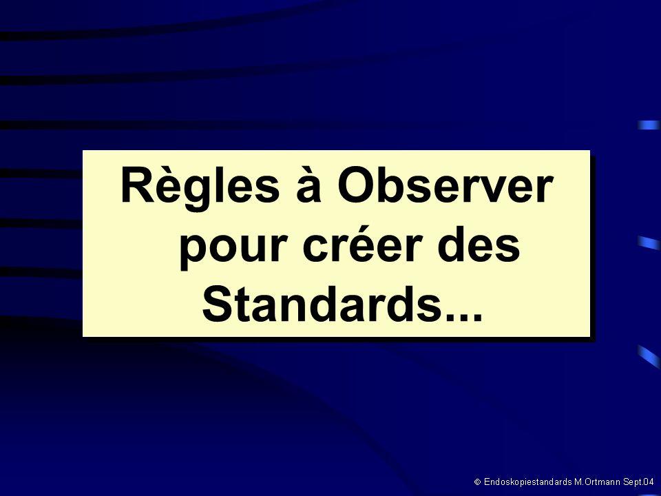 Règles à Observer pour créer des Standards... Règles à Observer pour créer des Standards...