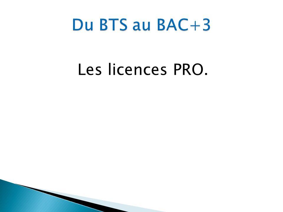 Les licences PRO.