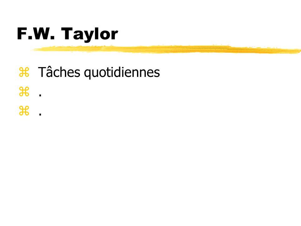 F.W. Taylor z Tâches quotidiennes z.