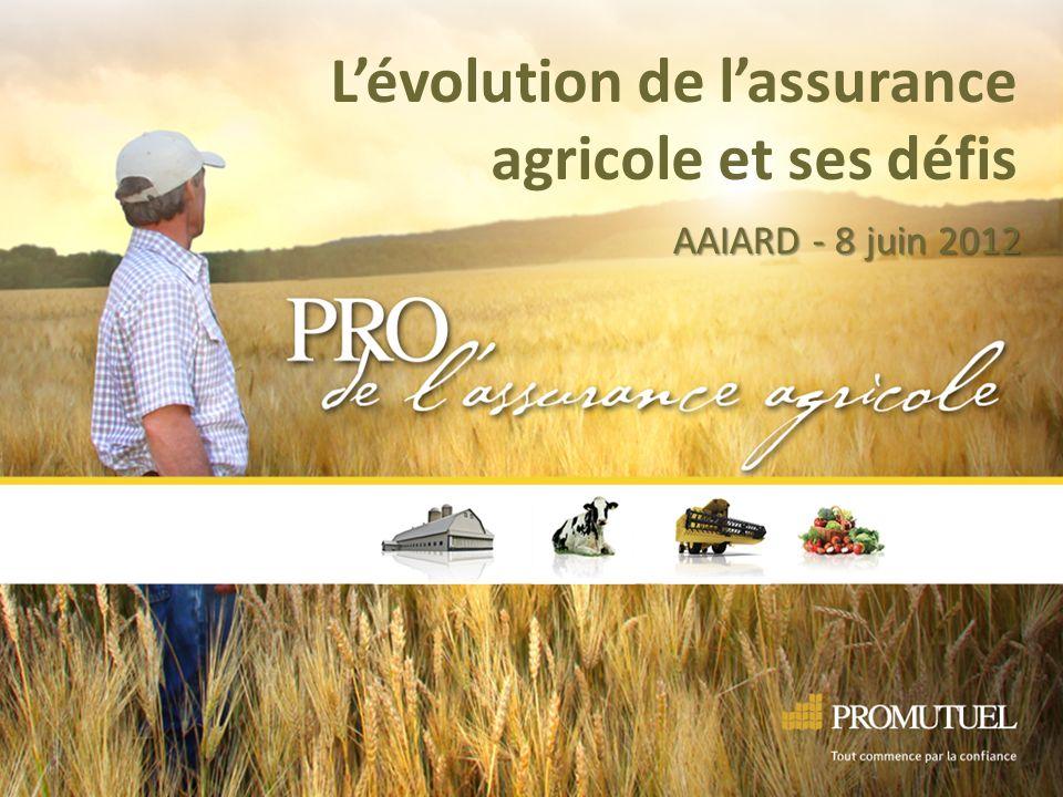 Lévolution de lassurance agricole et ses défis AAIARD - 8 juin 2012