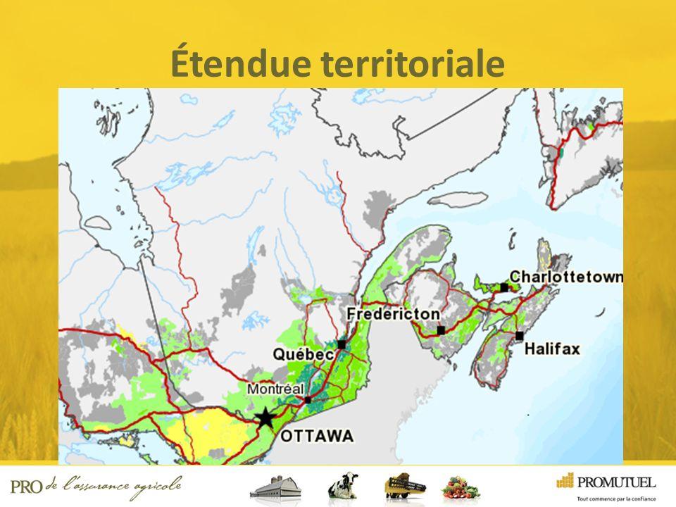Étendue territoriale