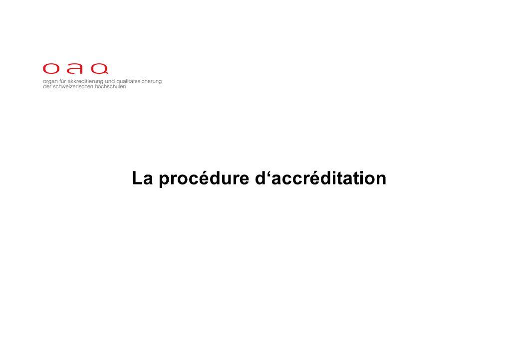 La procédure daccréditation