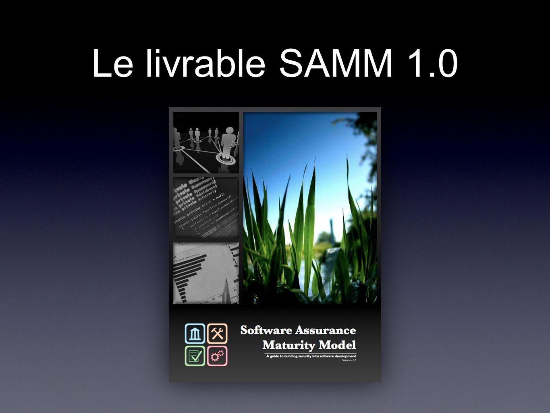 Le livrable SAMM 1.0