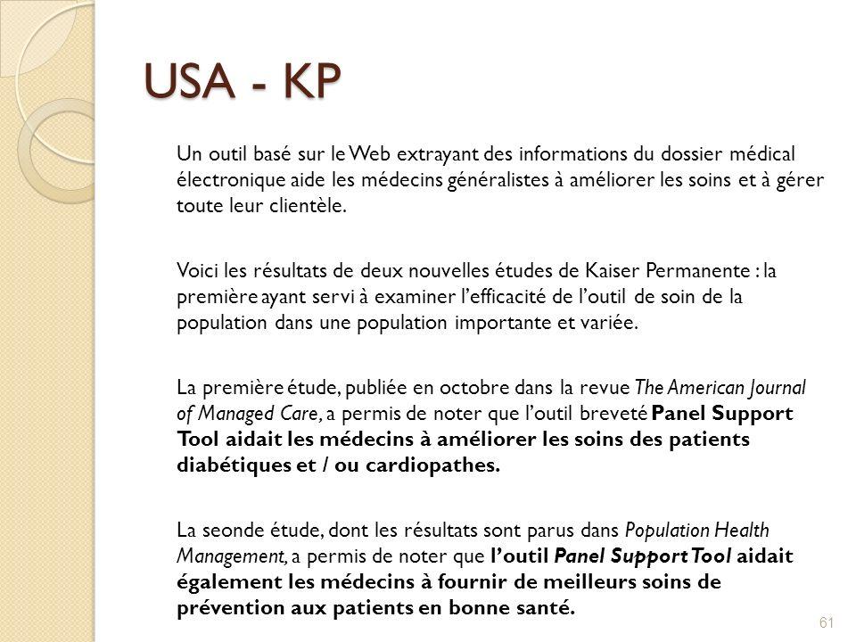USA - KP Un outil basé sur le Web extrayant des informations du dossier médical électronique aide les médecins généralistes à améliorer les soins et à