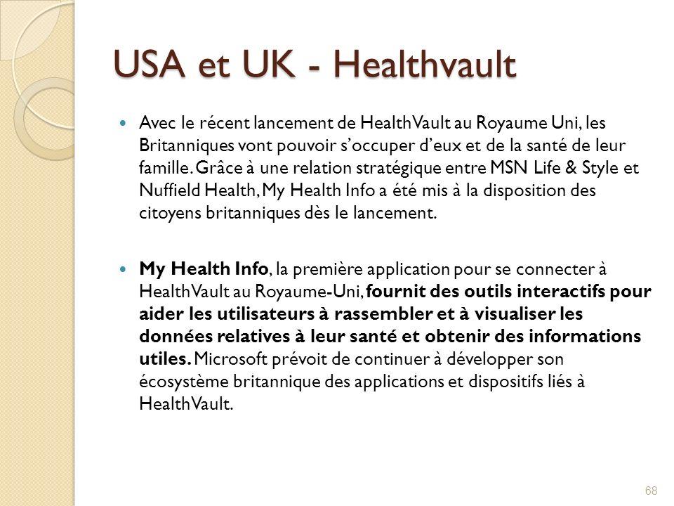 USA et UK - Healthvault Avec le récent lancement de HealthVault au Royaume Uni, les Britanniques vont pouvoir soccuper deux et de la santé de leur fam