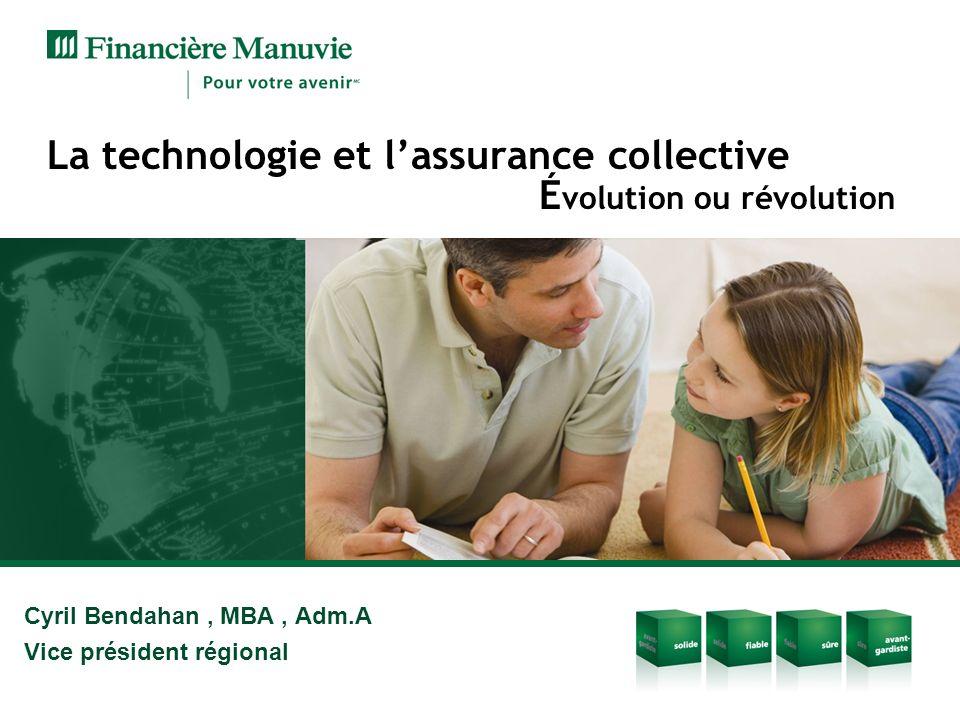 Cyril Bendahan, MBA, Adm.A Vice président régional La technologie et lassurance collective É volution ou révolution