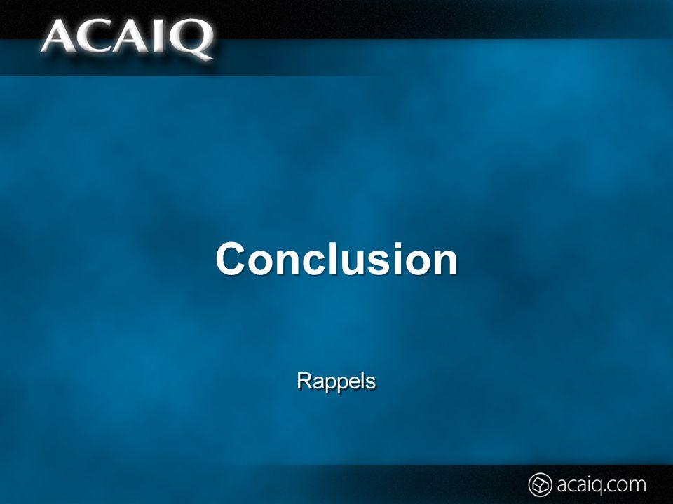 Conclusion Rappels