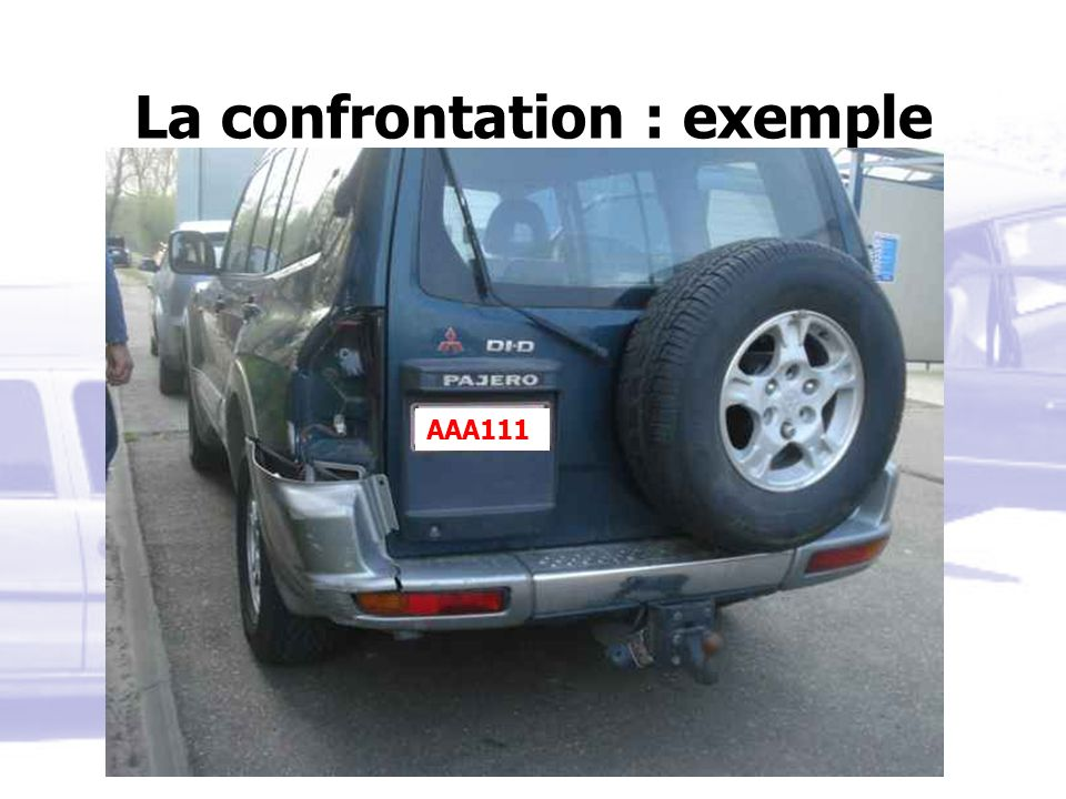 La confrontation : exemple AAA111