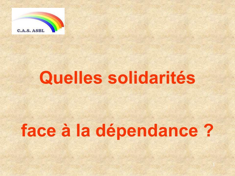1 Quelles solidarités face à la dépendance