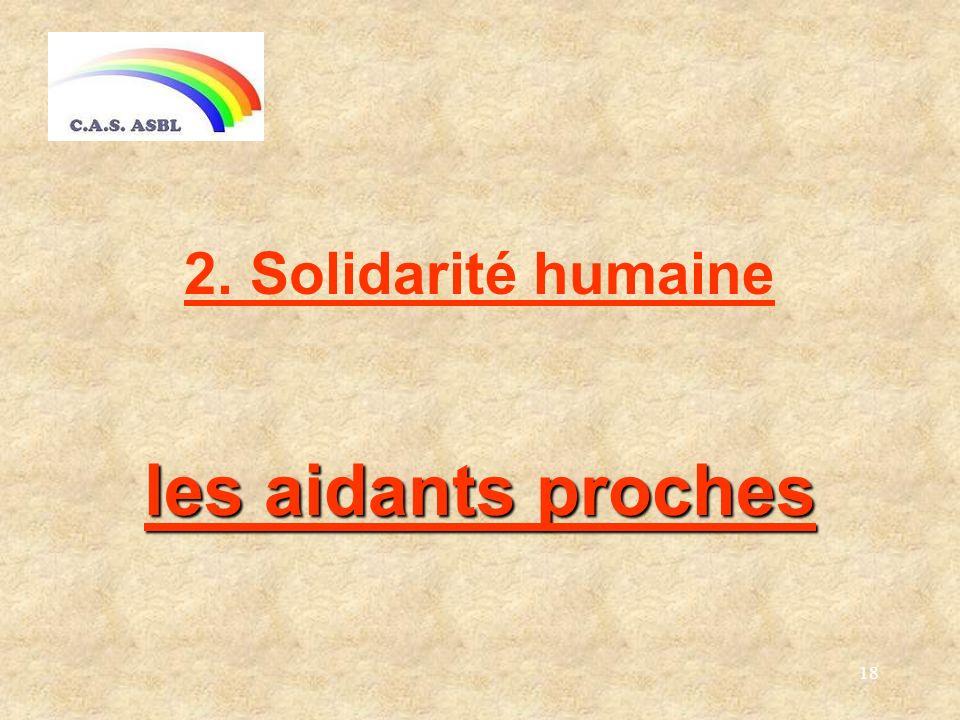 18 les aidants proches 2. Solidarité humaine