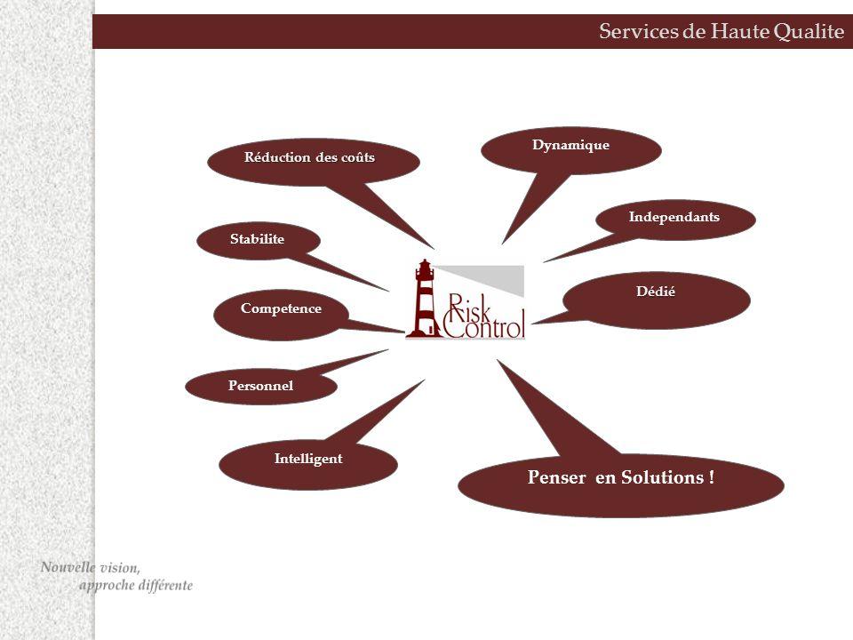 Services de Haute Qualite Dédié Independants Dynamique Réduction des coûts Stabilite Intelligent Competence Personnel Penser en Solutions !