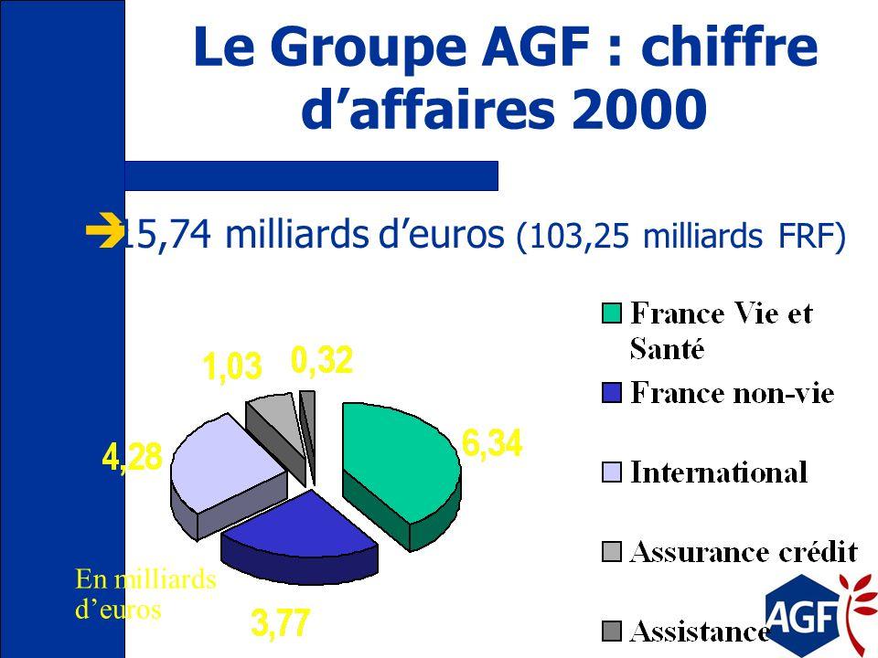 Le Groupe AGF : ses objectifs stratégiques Décentraliser vers des centres de responsabilité Etre à la pointe de lapplication des nouvelles technologie