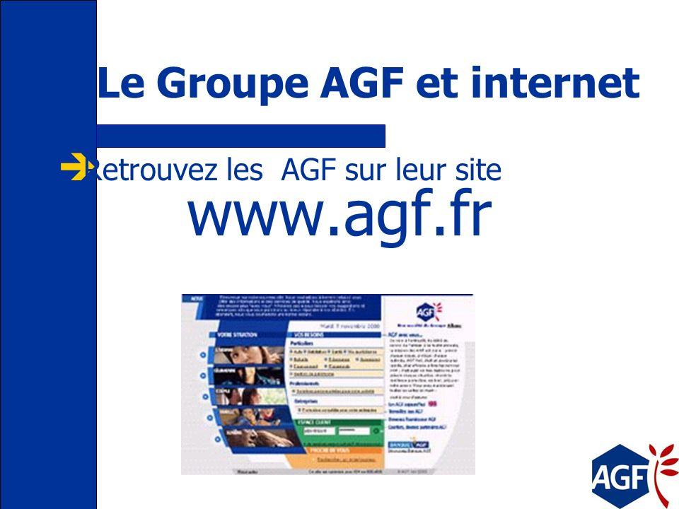 Leader de la Net Economie 1995 : AGF est la 1ère compagnie française d assurance sur Internet aujourdhui : www.agf.fr –site institutionnel –portail de