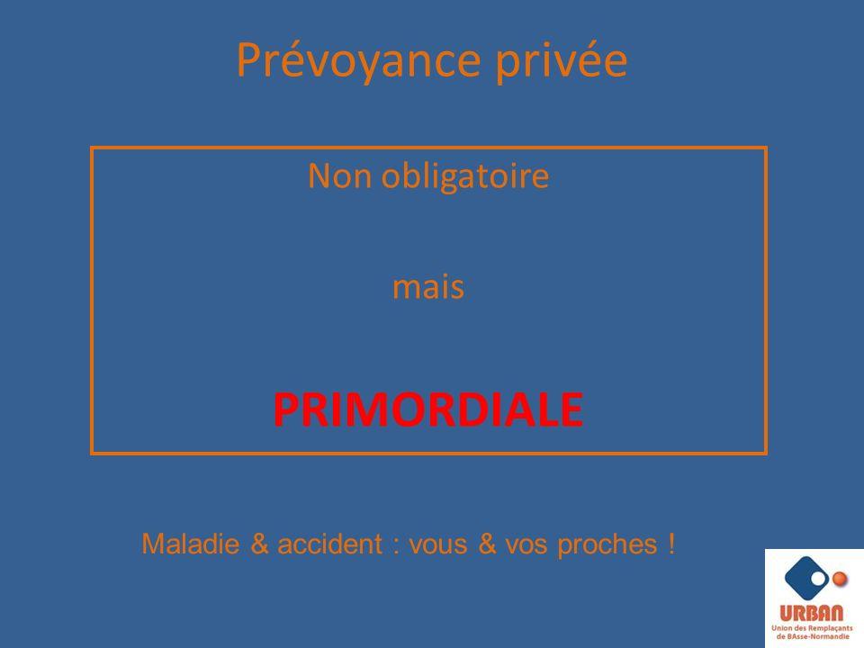 Prévoyance privée Non obligatoire mais PRIMORDIALE Maladie & accident : vous & vos proches !