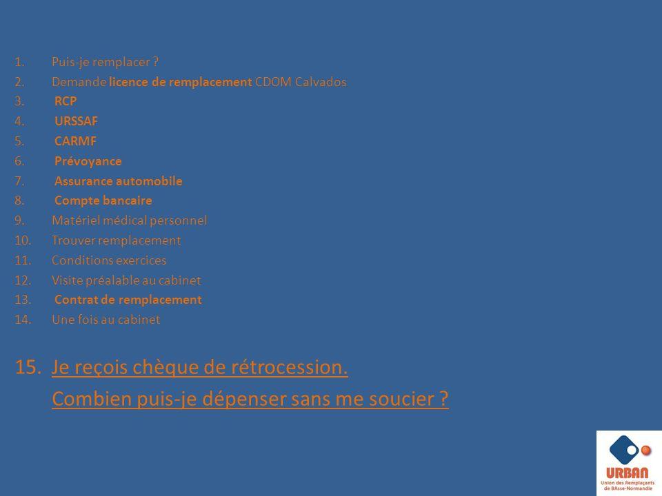 1.Puis-je remplacer .2.Demande licence de remplacement CDOM Calvados 3.