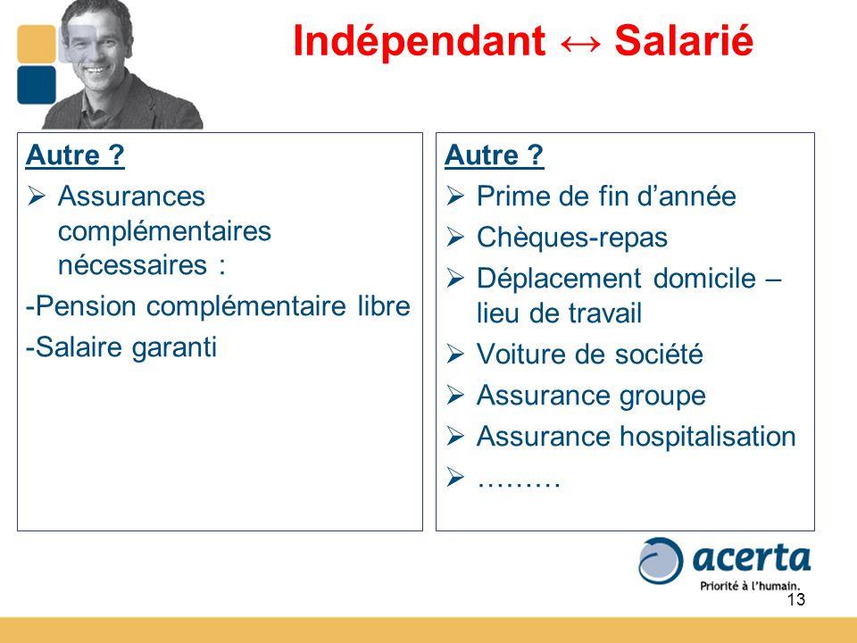 13 Indépendant Salarié Autre .