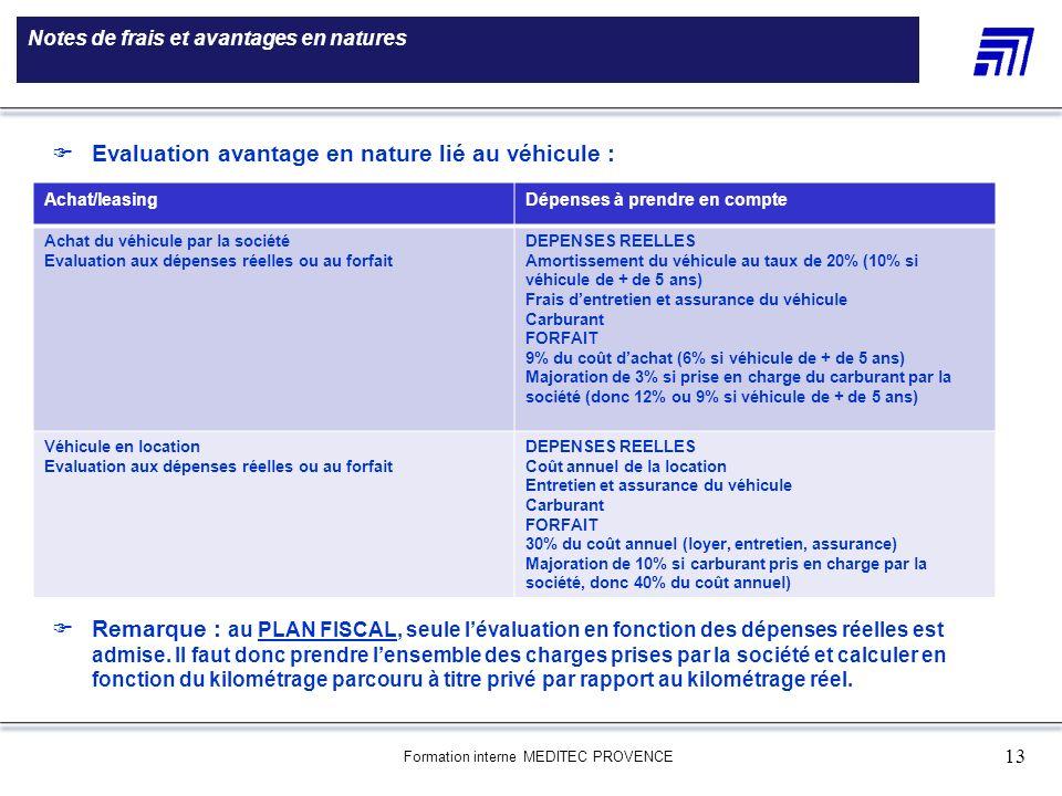 Formation interne MEDITEC PROVENCE 13 Notes de frais et avantages en natures 5 000 références produits Une gamme de 5 000 références produits Le choix