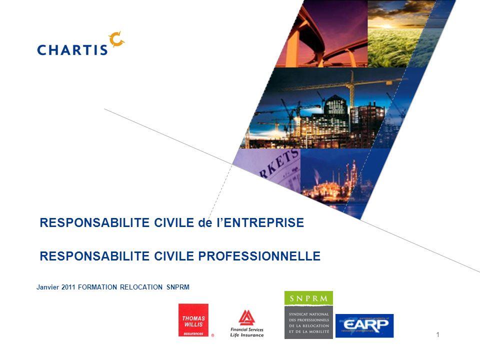 1 RESPONSABILITE CIVILE de lENTREPRISE RESPONSABILITE CIVILE PROFESSIONNELLE Janvier 2011 FORMATION RELOCATION SNPRM