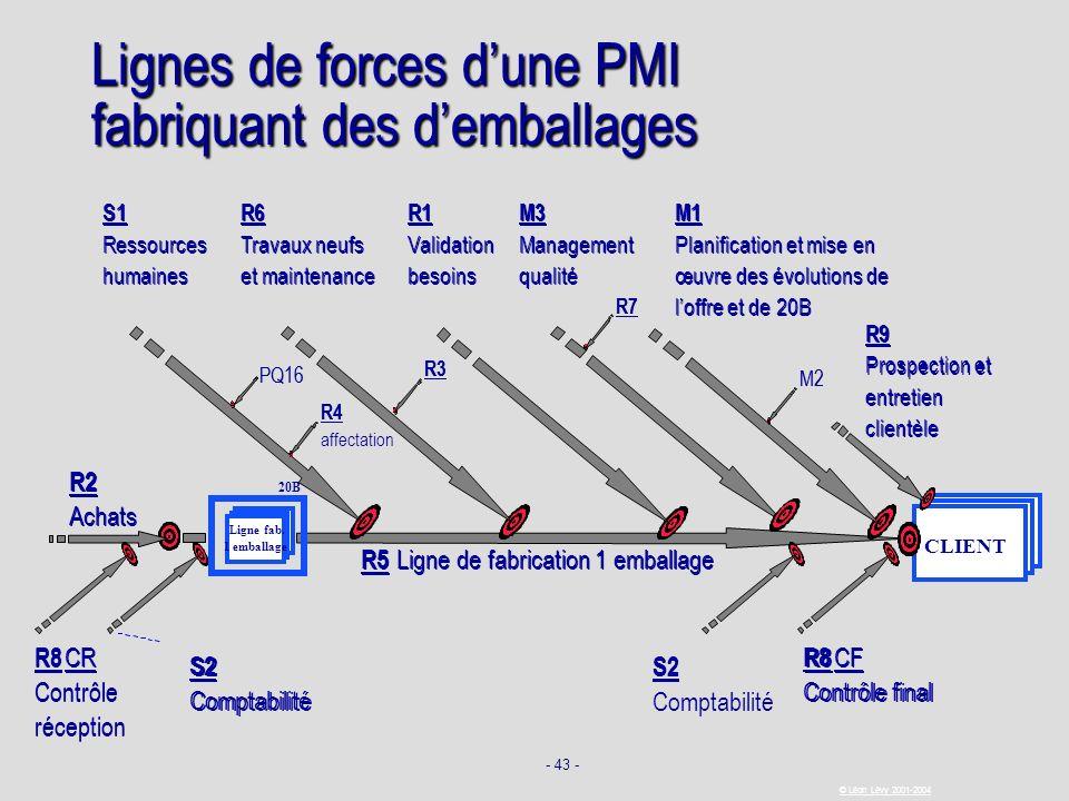 - 43 - © Léon Lévy 2001-2004 Lignes de forces dune PMI fabriquant des demballages