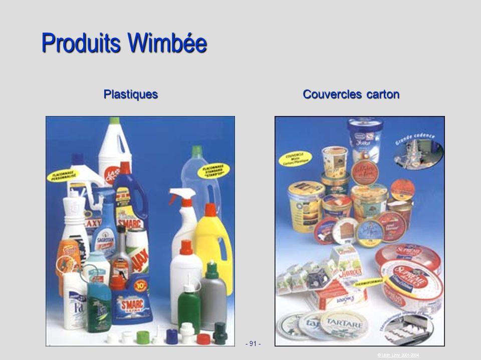 - 91 - © Léon Lévy 2001-2004 Produits Wimbée Plastiques Couvercles carton