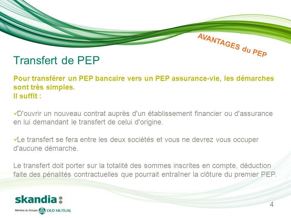 Pour transférer un PEP bancaire vers un PEP assurance-vie, les démarches sont très simples. Il suffit : D'ouvrir un nouveau contrat auprès d'un établi