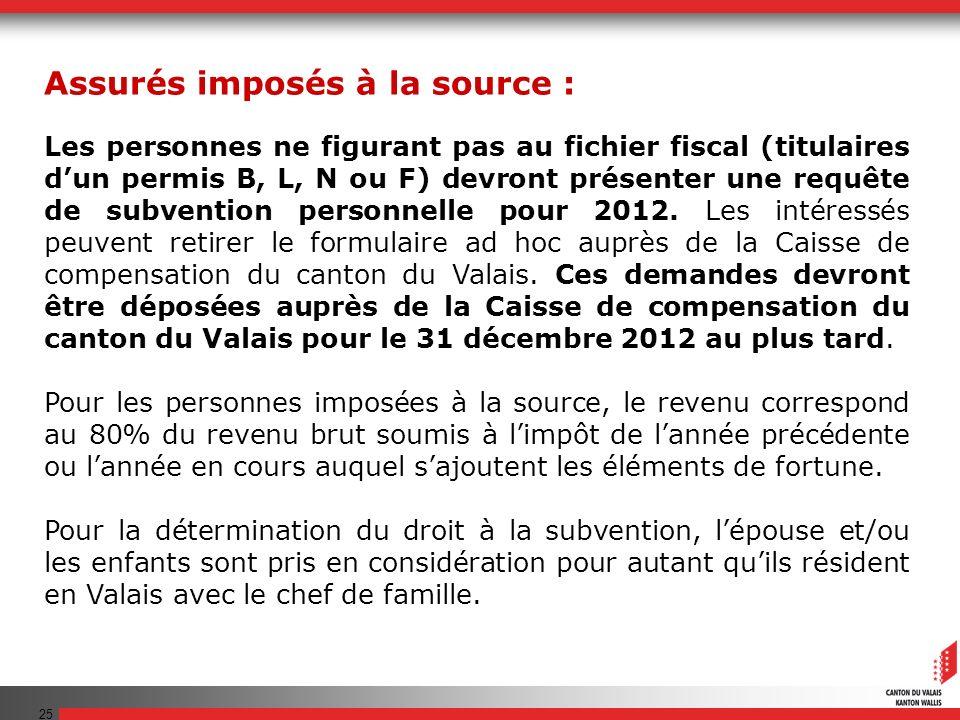 25 Les personnes ne figurant pas au fichier fiscal (titulaires dun permis B, L, N ou F) devront présenter une requête de subvention personnelle pour 2