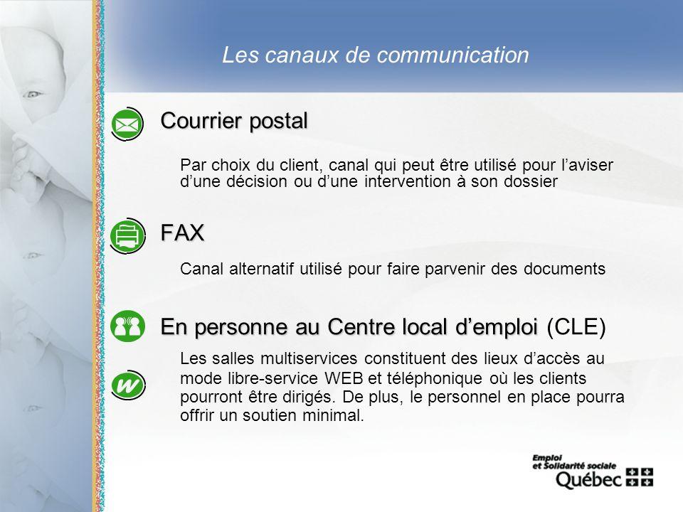 23 Les canaux de communication Courrier postal Par choix du client, canal qui peut être utilisé pour laviser dune décision ou dune intervention à son