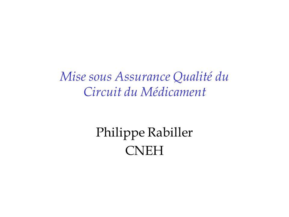 Mise sous Assurance Qualité du Circuit du Médicament Philippe Rabiller CNEH