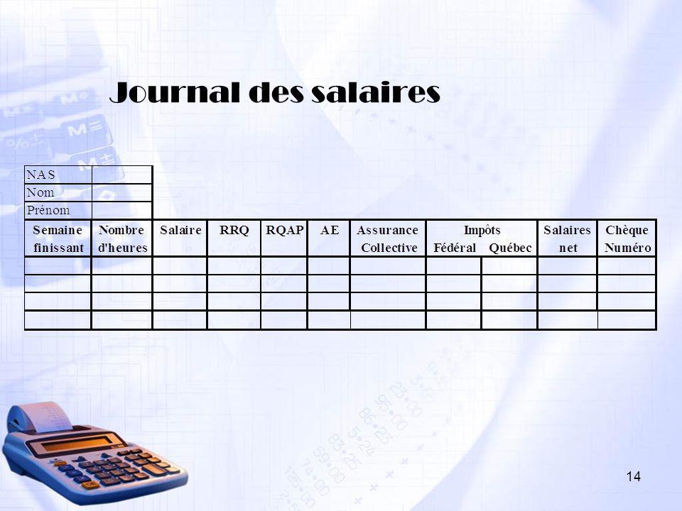 14 Journal des salaires