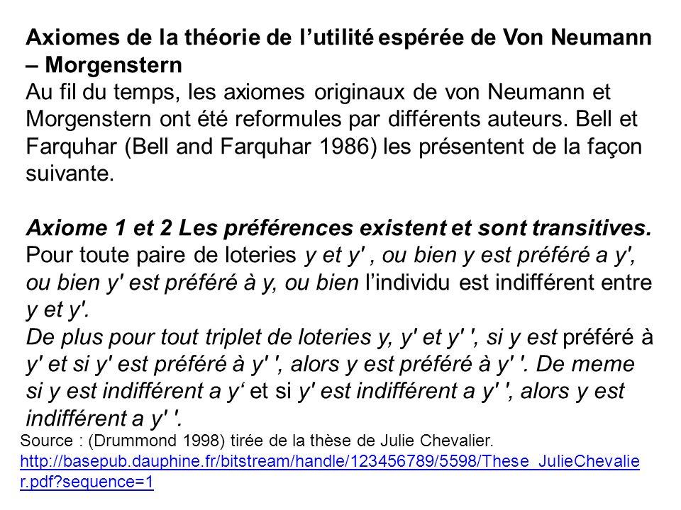 Source : (Drummond 1998) tirée de la thèse de Julie Chevalier. http://basepub.dauphine.fr/bitstream/handle/123456789/5598/These_JulieChevalie r.pdf?se