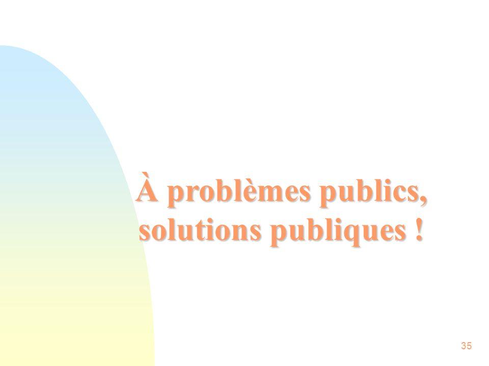 35 À problèmes publics, solutions publiques !