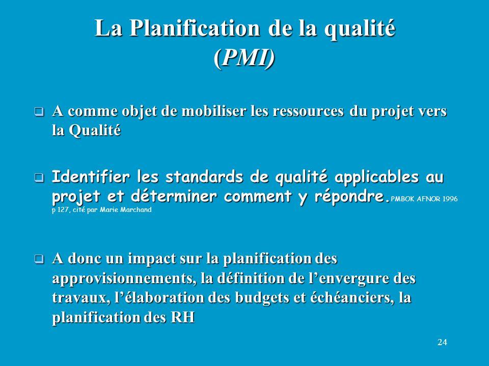 24 A comme objet de mobiliser les ressources du projet vers la Qualité A comme objet de mobiliser les ressources du projet vers la Qualité Identifier