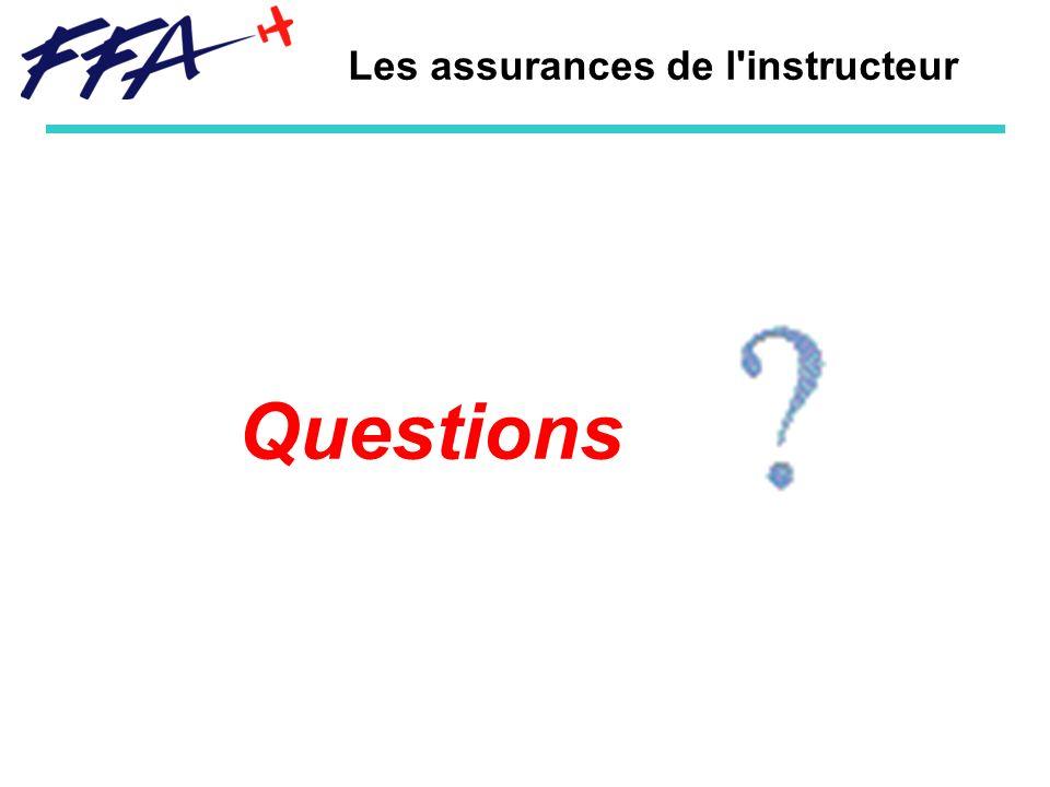 Les assurances de l'instructeur Questions