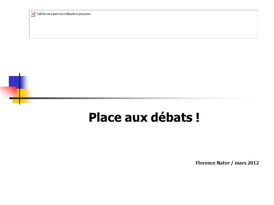 Place aux débats ! Florence Nater / mars 2012
