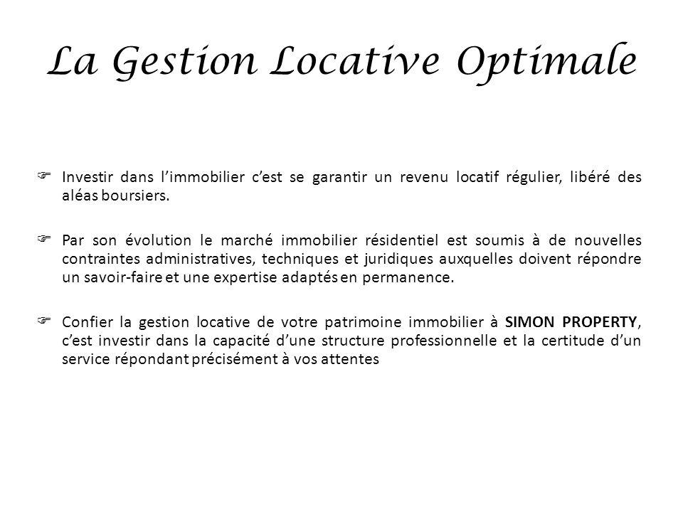 La Gestion Locative Optimale Investir dans limmobilier cest se garantir un revenu locatif régulier, libéré des aléas boursiers. Par son évolution le m