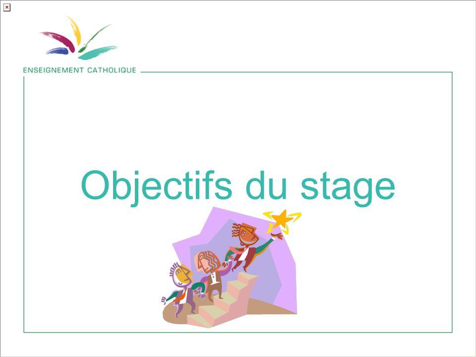 Objectifs du stage
