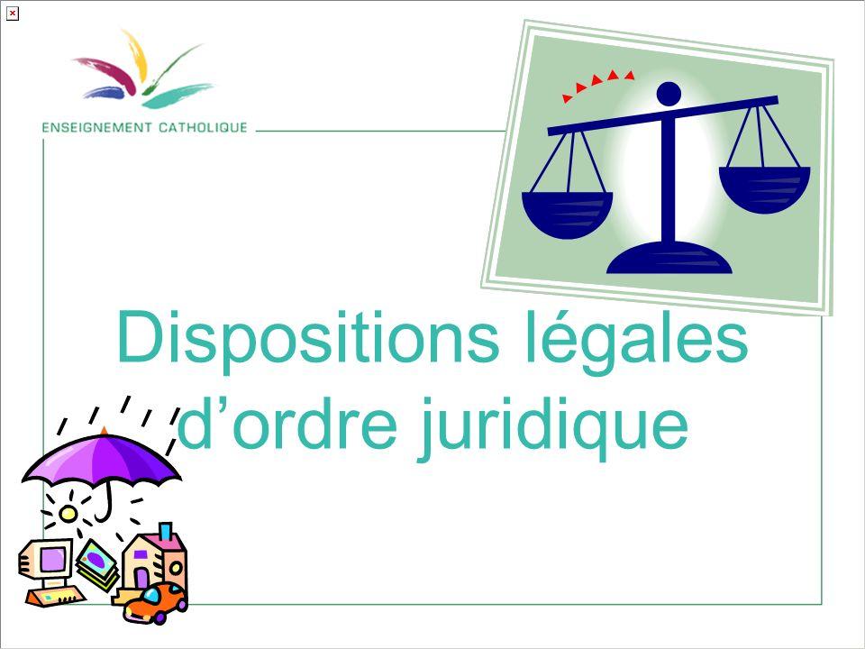 Dispositions légales dordre juridique