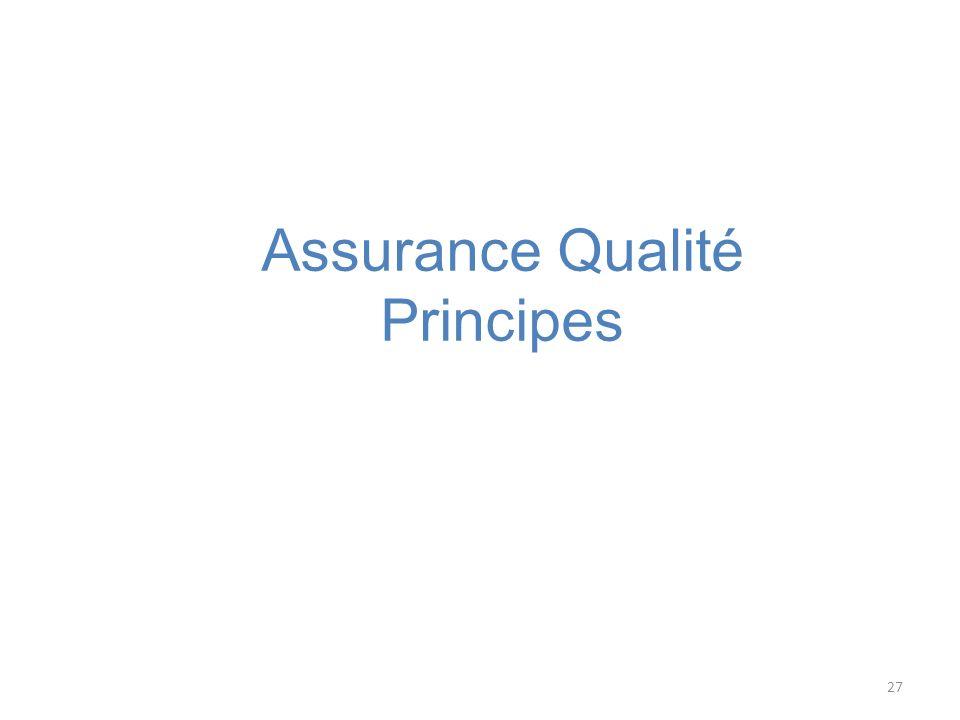 27 Assurance Qualité Principes