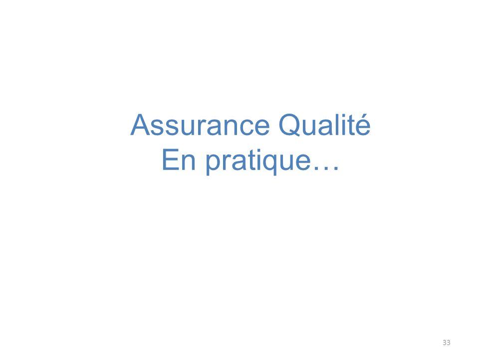 33 Assurance Qualité En pratique…
