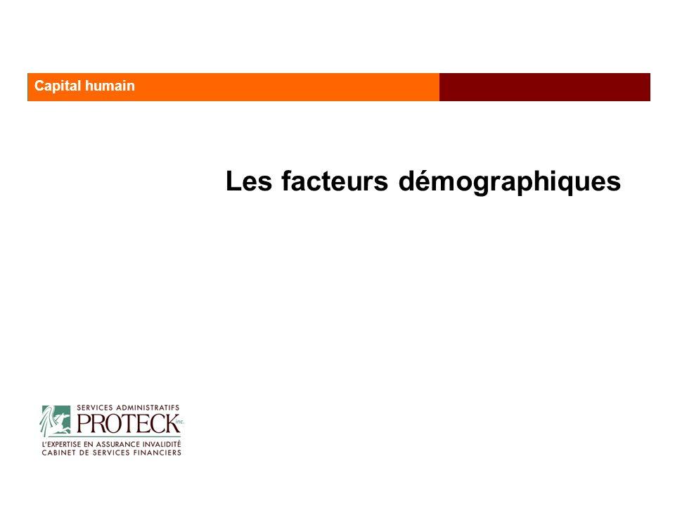 Les facteurs démographiques Les services administratifs Proteck Capital humain