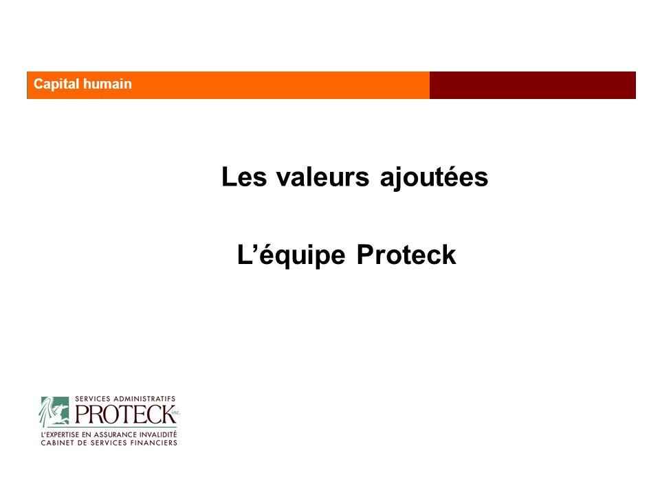 Les valeurs ajoutées Les services administratifs Proteck Capital humain Léquipe Proteck