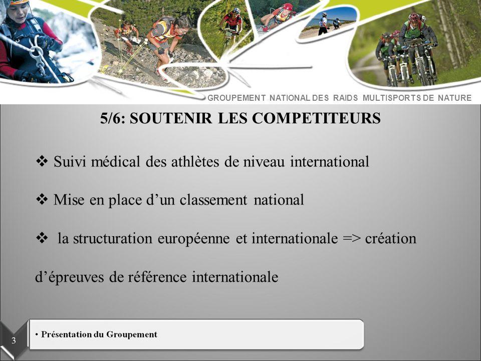 GROUPEMENT NATIONAL DES RAIDS MULTISPORTS DE NATURE Suivi médical des athlètes de niveau international Mise en place dun classement national la struct