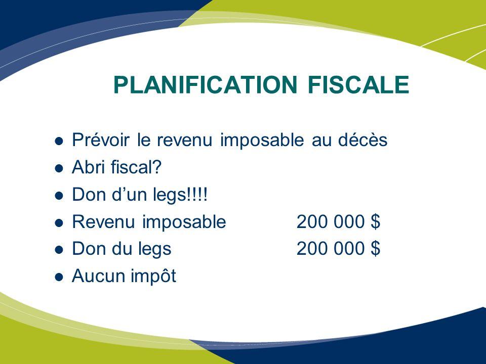 INTENTION DE DON AU DÉCÈS Aide fiscale non nécessaire Penser aux régimes de revenu viager Pourquoi.